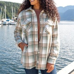 THREAD & SUPPLY Plaid Shacket - Heavy Flannel